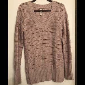 🎉3/$25 Lucky  Brand Pink V-Neck Sweater Large